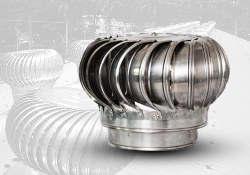 extractor eólico 12 pulgadas