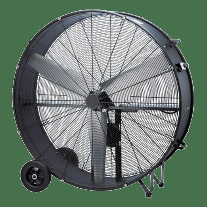 Ventilador industrial con ruedas