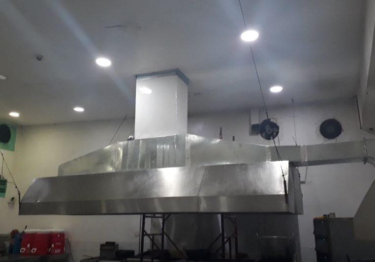 Campana de extraccion para restaurante