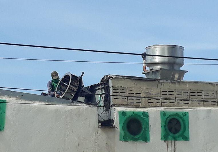 Instalacion de extractor para cocina industrial