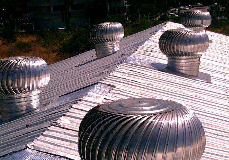extractor de calor en el techo