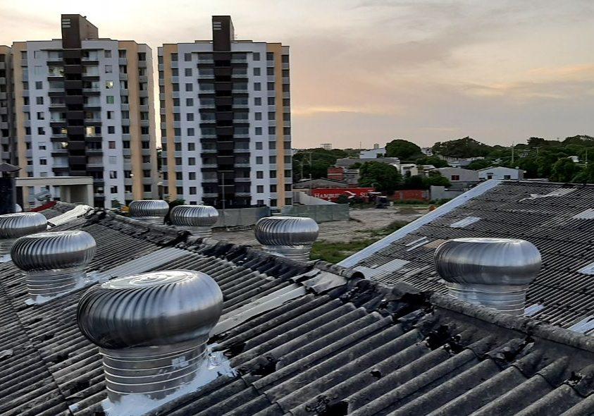 Extractores techo teja