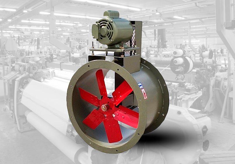 ventilador tubo axial acople indirecto