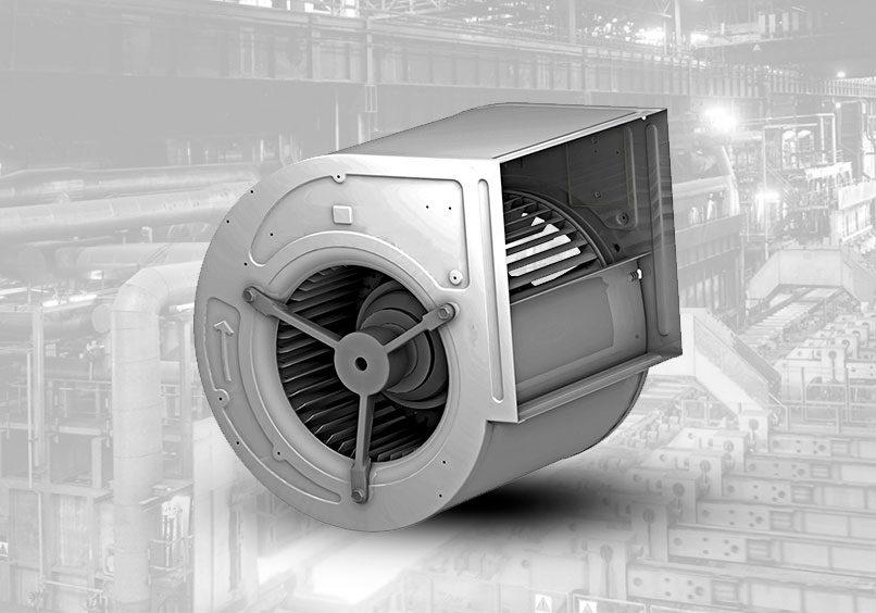 ventilador centrifugo con aspa curva