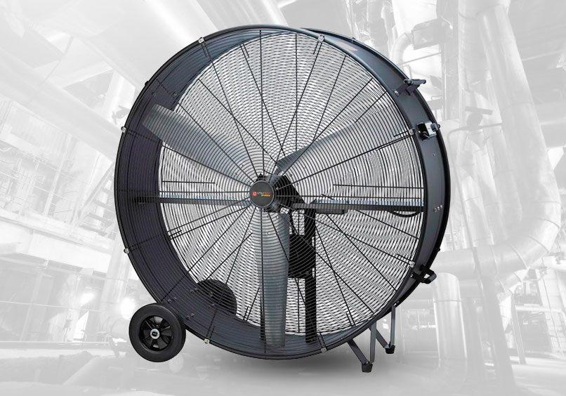 ventilador móvil para ventilar distintas áreas