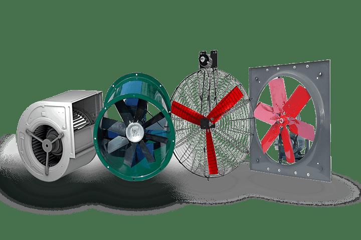 Modelo y tipo de ventiladores